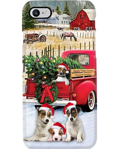SHN 10 Christmas red truck Jack Russell case
