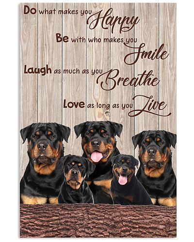Rottweiler love as long as you live poster