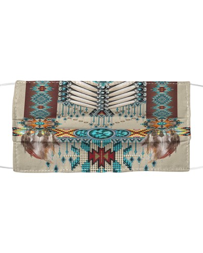 SHN 10 Native American pattern Cloth face mask