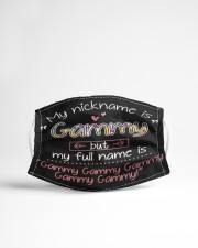 sn my nickname is gammy Cloth face mask aos-face-mask-lifestyle-22