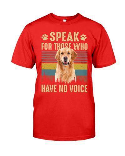 Who have no voice Golden Retriever