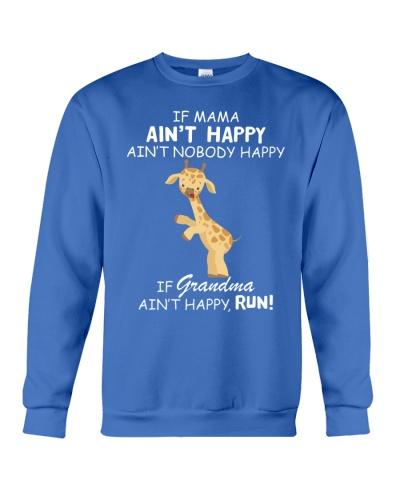 Giraffe if mama ain't happy run