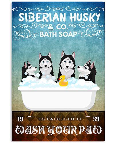 Husky dogs bath soap