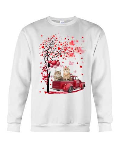 Red Car Love Tree Cat Shirt