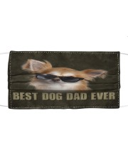 Th 2 Chihuahua Best Dog Dad Ever Cloth face mask front