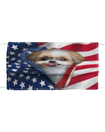 SHN 5 Opened American flag Shih Tzu