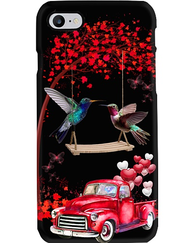 Humming bird red love world with btfl pink