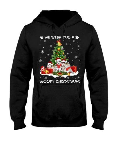 Siberian Husky woofy Christmas