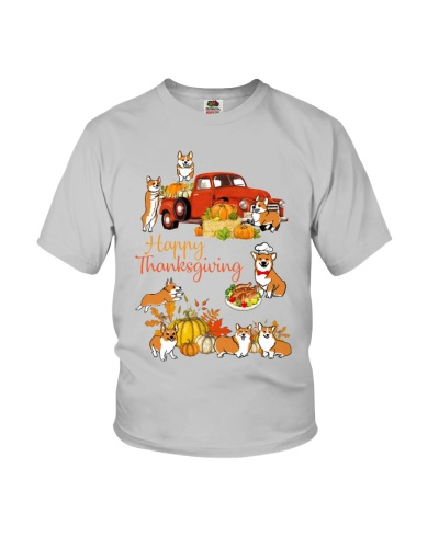 Corgi Happy Thanksgiving truck