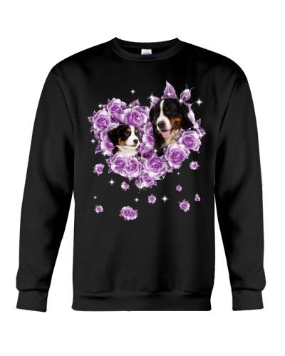 Bernese Mountain mom purple rose shirt