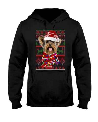 Yorkshire Terrier light ugly Christmas sweater