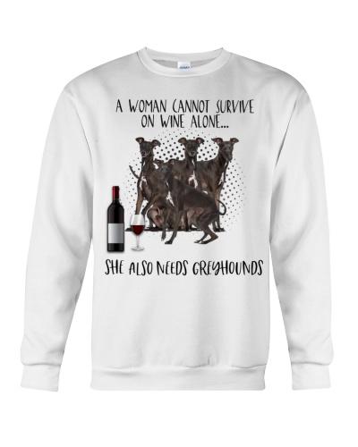 Greyhounds wine she needs