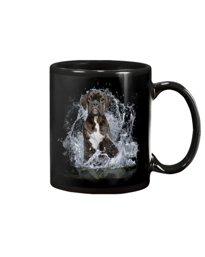 Boxer With Water Line