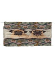 Monica English Mastiff boho pattern Cloth face mask front