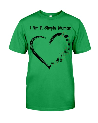 Camping heart simple woman shirt