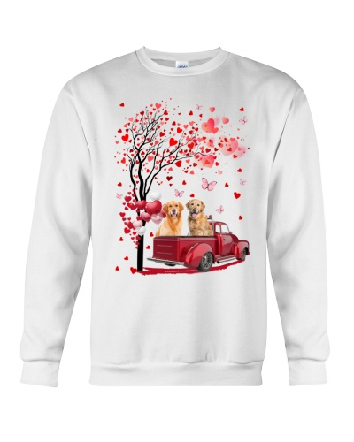 Mt Red Car Love Tree Golden Retriever Shirt