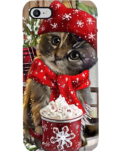 SHN 10 Christmas ice coffee Cat phone case