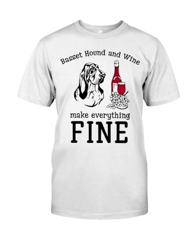 Basset hound wine is fine