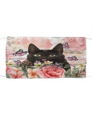 TH 2 Black Cat Spring Cloth face mask front