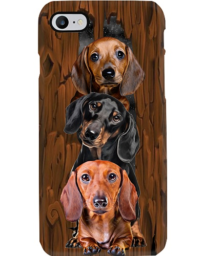 dt 7 dachshund stack on wood phonecase 18520