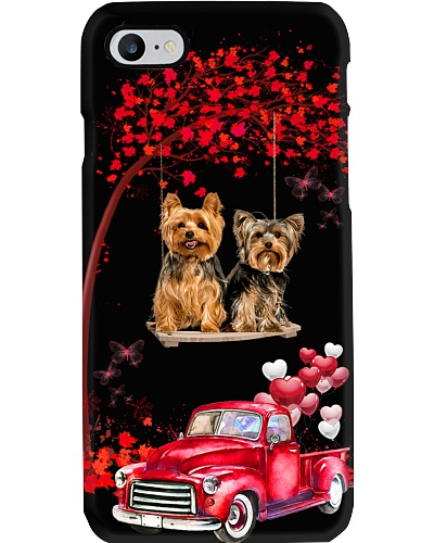 Yorkshire terrier red love world with btfl pink