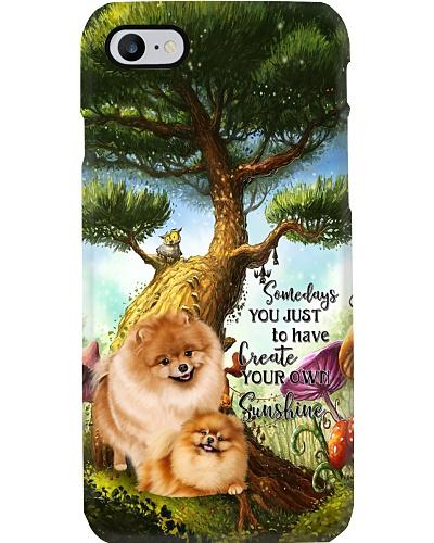 Pomeranian Create Sunshine Phone Case