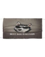 Siberian Husky Best Dog Dad Ever Cloth face mask front