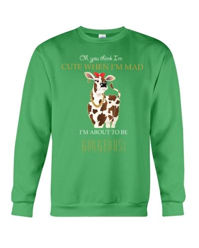 Mt You Think Im Cute When Im Mad Cow Shirt