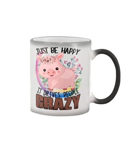 Ln Pig Just Be Happy Mug