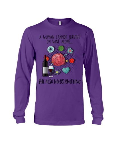 Tr 3 Knitting wine she needs