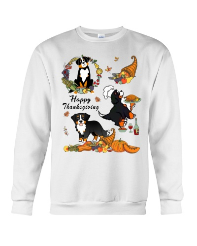 Bernese mountain happy thanksgiving