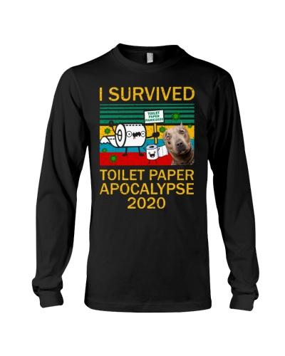 Pitbull I Survived Toilet Paper