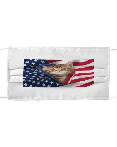 SHN 10 Opened American flag English Cat mask