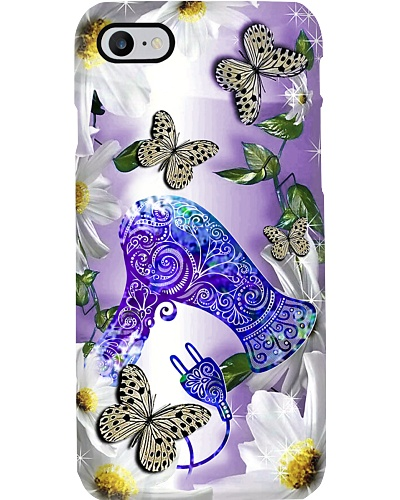 SHN 5 Purple daisy with butterfly Hairdresser