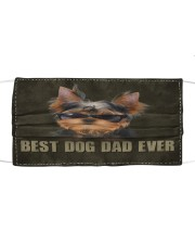 Th 2 Yorkshire Terrier Best Dog Dad Ever Cloth face mask front