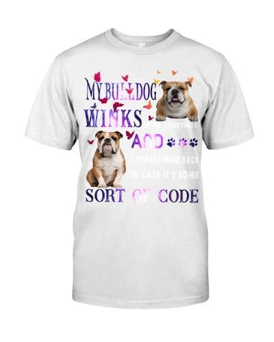 My bulldog winks shirt