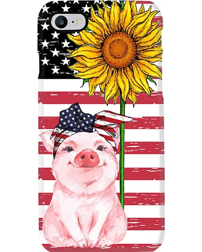 Ln pig smile with sunflower case