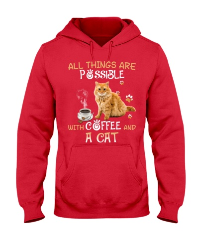 All things are possible with coffee and a Cat