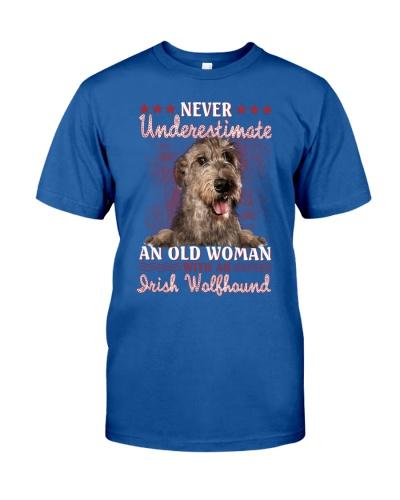 Irish wolfhound never underestimate old woman