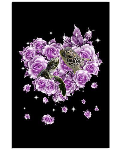 Turtle mom purple rose shirt
