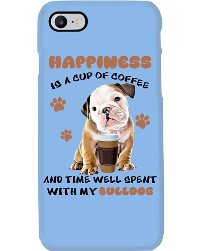 Coffee and time well spent with Bulldog shirt