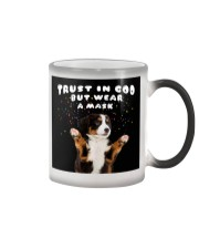 TT Bernes Mountain Trust In God Color Changing Mug thumbnail