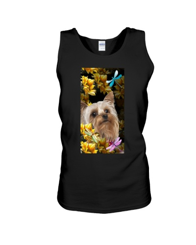 Yorkshire terrier sunflower phone case