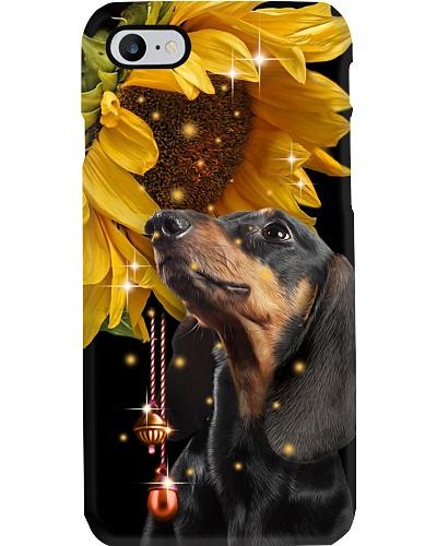 Dachshund magic sunflower phone case