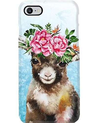 Goat flower phone case