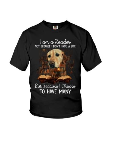 Labrador retriever i am a reader
