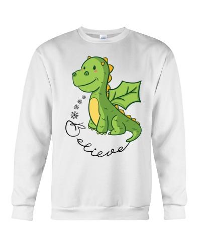 Dragon believe christmas green