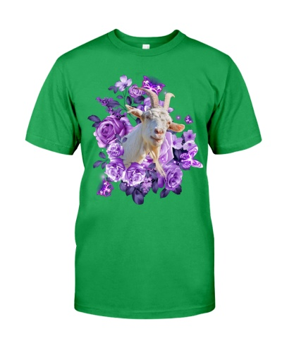 Goat purple flowers
