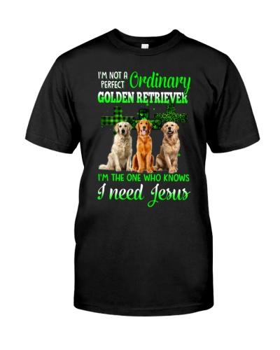 Golden retriver need jesus shirt