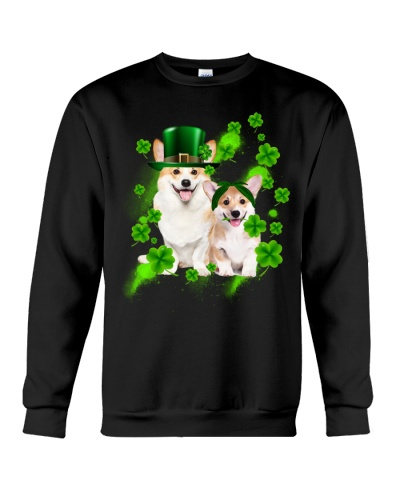 Lucky Patricks Day Couple Corgi Shirt